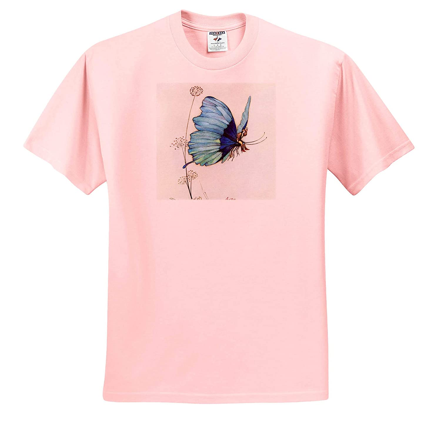 ts/_309591 Print of a Fairy in a Butterfly 3dRose Made in The Highlands Adult T-Shirt XL Art- Butterfly Took Wing
