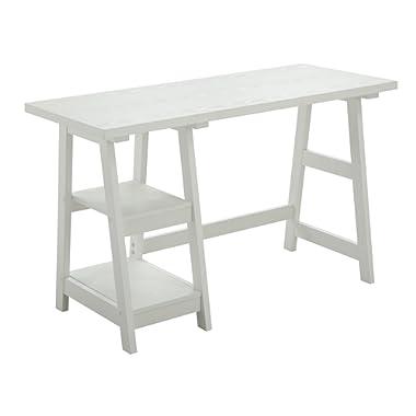 Convenience Concepts Designs2Go Trestle Desk, White