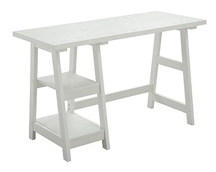 Peachy Convenience Concepts Designs 2 Go Trestle Desk White Home Interior And Landscaping Dextoversignezvosmurscom