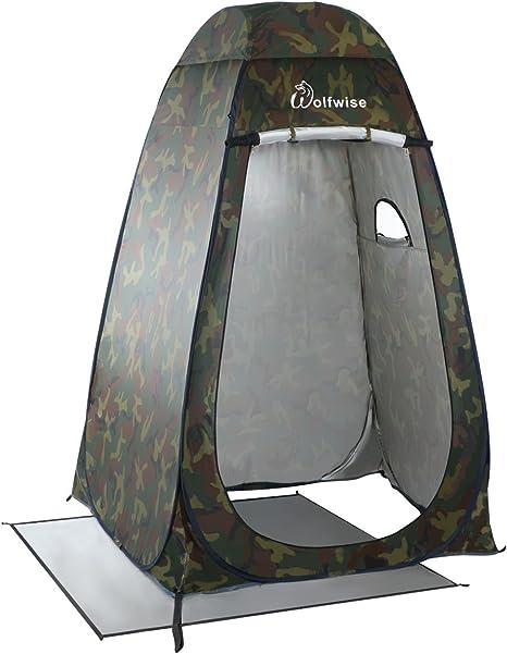 WolfWise Tienda de Campaña Instantánea Tent Abrir Cerrar Automáticamente Pop Up Portable Sirve Para Camping Playa Bosques Zonas de montaña Ducha Aseo ...
