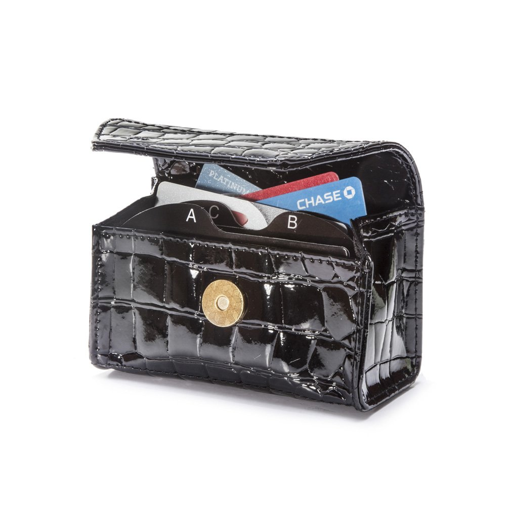 CARD CUBBY Wallet Organizer - COAL BLACK