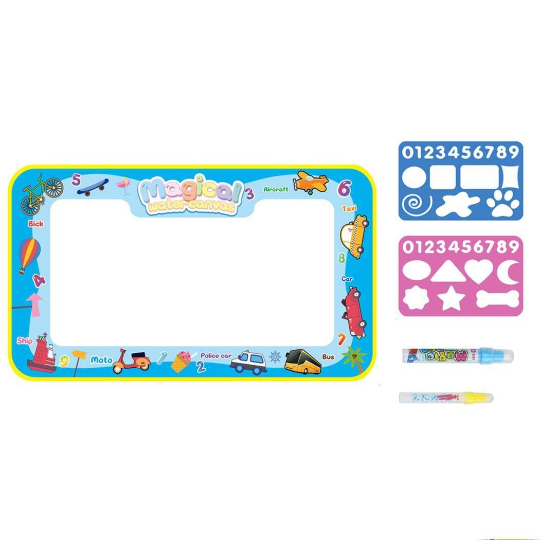 xinnio Drawing Magic Mat Water Doodle Mat Extra Large Kids Educational Learning Toy Gift for Boys Girls Toddlers Age 2 3 4 5 Year Old Toddler Toys Painting Board Writing Mats