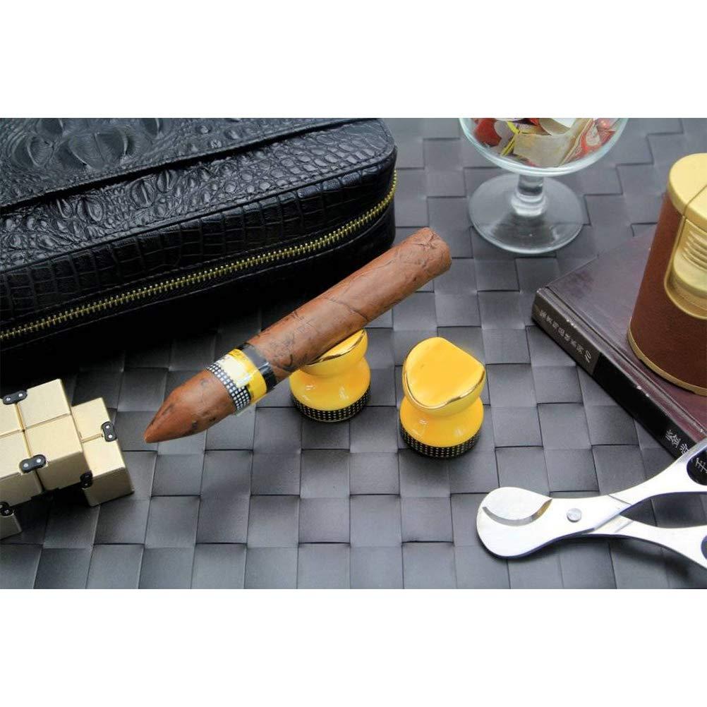 Soporte De Cenicero De Bolsillo para Cenicero De Cigarro Amarillo Uso De Mesa De Cer/ámica De Ceniza De Cigarro como Cenicero Al Aire Libre O Interior