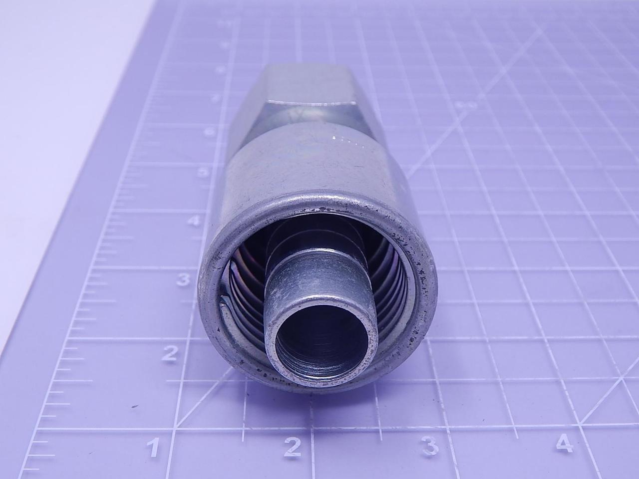 Gates 12G-14FJX MegaCrimp Couplings Zinc Plated Carbon Steel 3.81 Female JIC 37 Flare Swivel 3//4 ID 3.81 3//4 ID G25170-1214-GAT