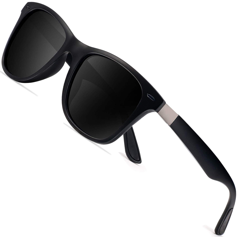 daddc495e18f Amazon.com  Polarized Sunglasses for Men Retro - FEIDU Polarized Sunglasses  for Men Sunglasses FD2150 (black black-new)  Clothing