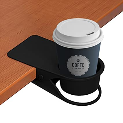 LOHOME® Soporte para tazas, café agua Soda botella clip On Edage de la mesa