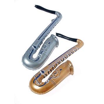 U.S. Toy Nosotros Juguete One Varios Hinchable saxofón, Oro ...