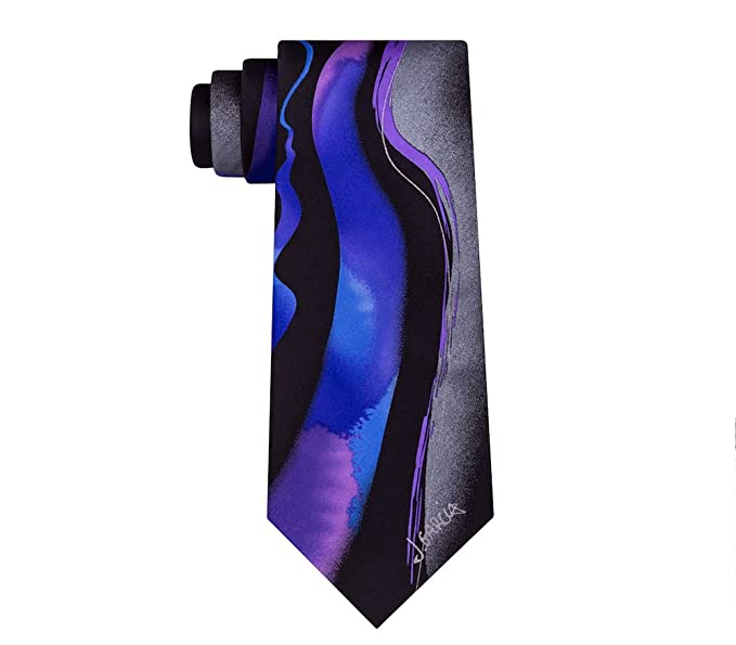 8a0926cced24 Men's Jerry Garcia Silk Tie and Collector's Pin Set - Purple Wetland ...