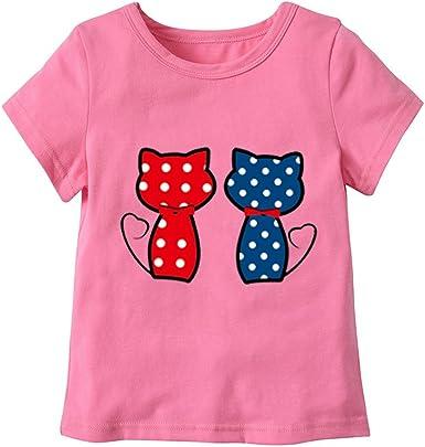 FCQNY Niños pequeños Camiseta Gatos Patrones de Dibujos ...