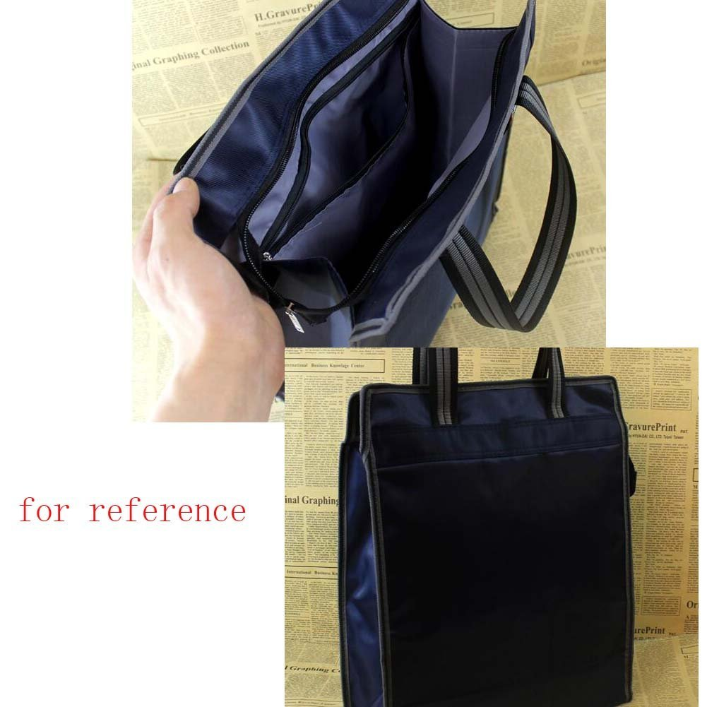 Black Document Bag Fashion Business Office Briefcase Canvas Handbag