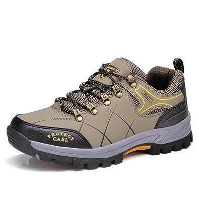 WANPUL Trekking Schuhe Herren Wanderschuhe Atmungsaktiv Low