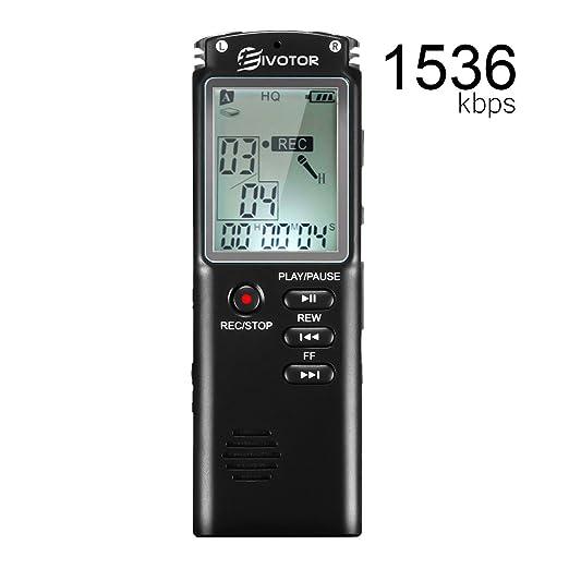 82 opinioni per EIVOTOR 8GB Registratore Vocale Digitale Portatile Supporta MP3 con Microfono