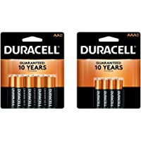 Duracell - CopperTop AA Alkaline Batteries - 8 count & - CopperTop AAA Alkaline Batteries - long lasting, all-purpose Triple A battery for household and business - 8 count