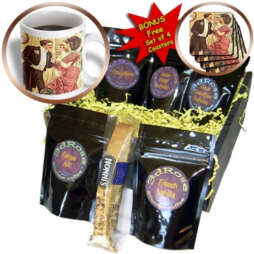 Florene Art Deco and Nouveau - Vintage Picture Of New Years Eve Couple - Coffee Gift Baskets - Coffee Gift Basket (cgb_80313_1)