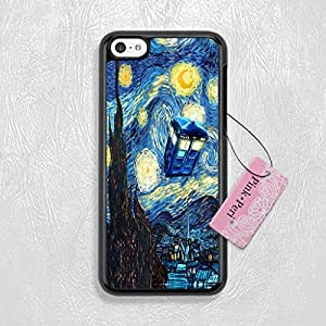 Pink Peri? Tardis Doctor Who On Starry Night Protective Hard Phone Case For iPhone 5c case