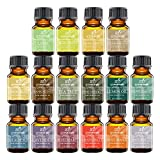 Art Naturals Aromatherapy Top 16 Essential Oil Kit - 100% Pure Therapeutic Grade - 2017 Premium Edition Sampler Gift Set - Contains 16 Pack of Essential Oils in 10ml Euro Dropper Glass Bottles
