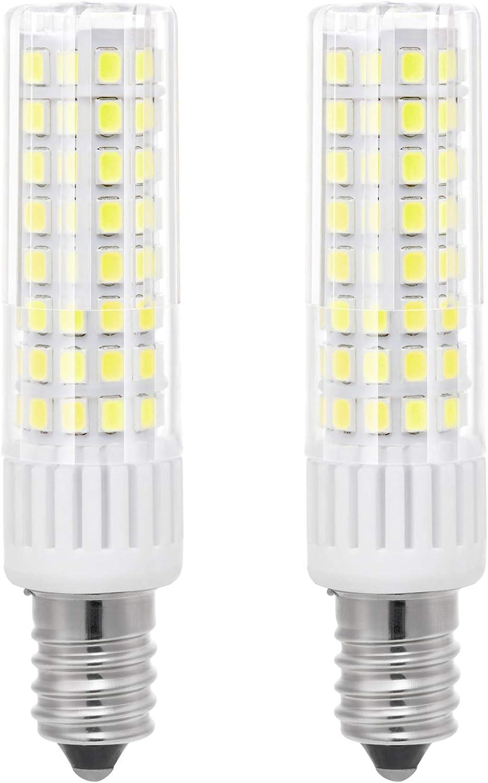 bqhy 2-Packs 7.5W E14 LED bombilla luz No Regulable Blanco Frío 6000K 90-265V Cabeza de la Lámpara Espiral LED Bombilla Reemplazar Incandescente 85W