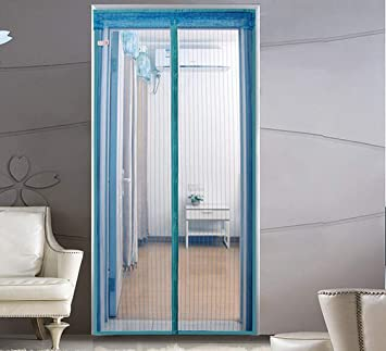 Cortina anti mosquitos, puerta de malla magnética, puerta de malla ...
