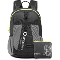 ECOOPRO Lightweight Packable Backpack Travel Hiking Daypack (20L Black)