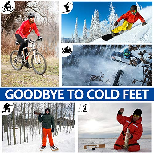 Heated Socks Rechargeable for Men/Women - 2021 Upgraded Electric Socks for Winter Outdoors