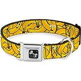Buckle-Down Seatbelt Buckle Dog Collar - Bananas Stacked Cartoon Yellows
