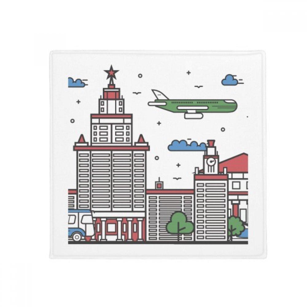 DIYthinker Russia City National Symbol Pattern Anti-Slip Floor Pet Mat Square Home Kitchen Door 80Cm Gift