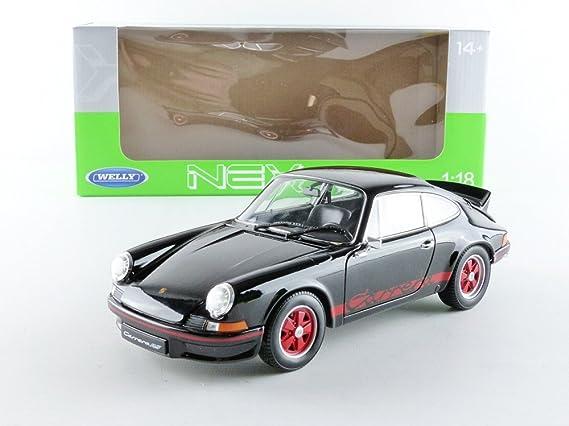 Welly - 18044bk - Porsche 911 Carrera 2.7 RS - 1973 - Escala 1/18 - Negro: Amazon.es: Juguetes y juegos