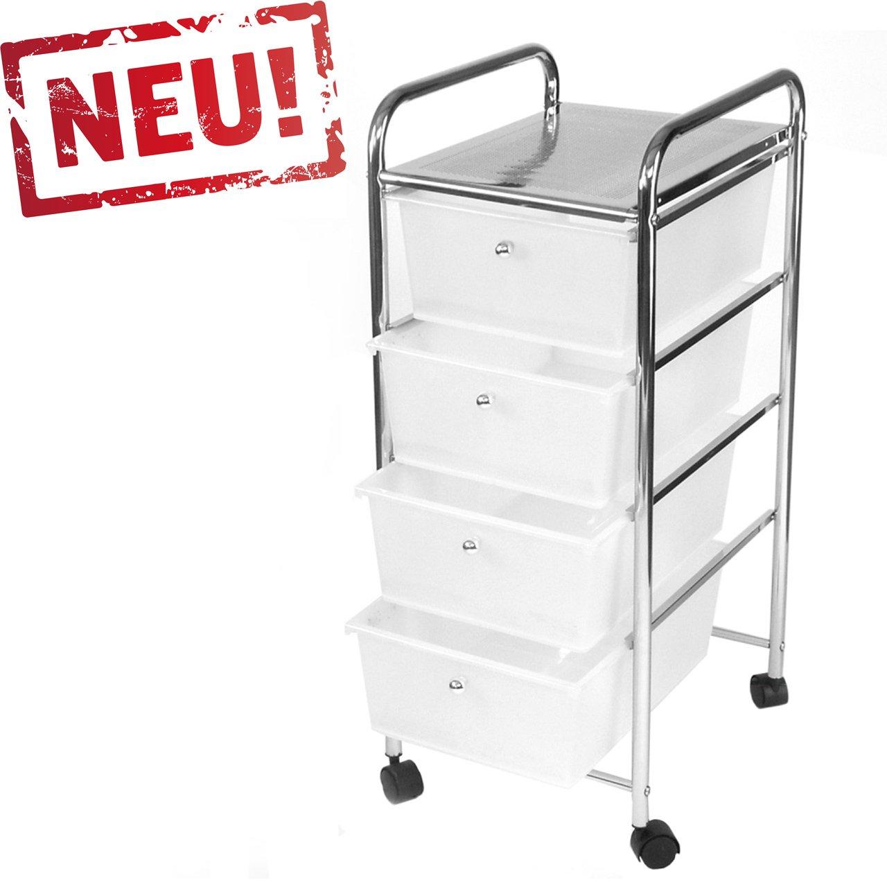 Rollbares Badregal Küchenregal Badtrolley Rollwagen Schubladenwagen ...