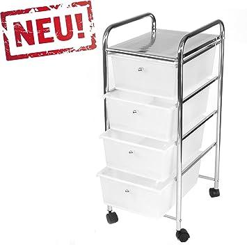 Rollcontainer kunststoff  Rollbares Badregal Küchenregal Badtrolley Rollwagen ...