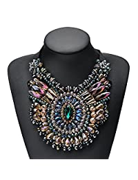 Holylove Women Statement Purple Necklace Bling Chocker Novelty Jewelry 1 PC with Gift Box