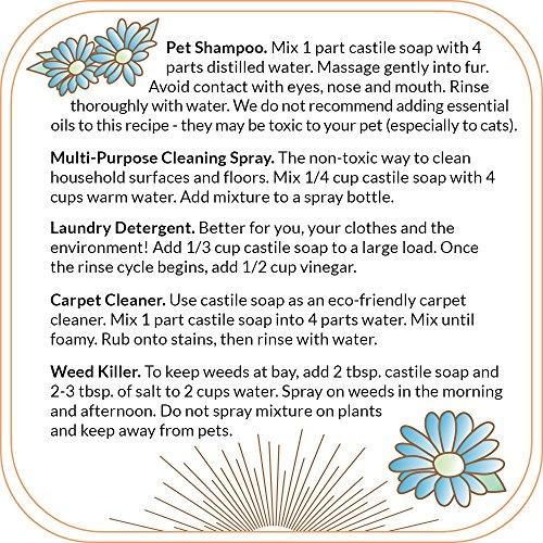 Quinn's Pure Castile Organic Liquid Soap, Unscented, 32 oz by Quinn's (Image #6)