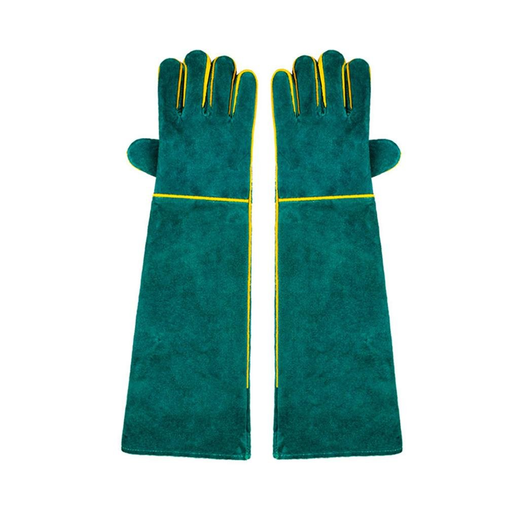 Labor protection welding 58cm gloves lengthened wear-resistant physical handling labor anti-high temperature anti-scratch special protection tool