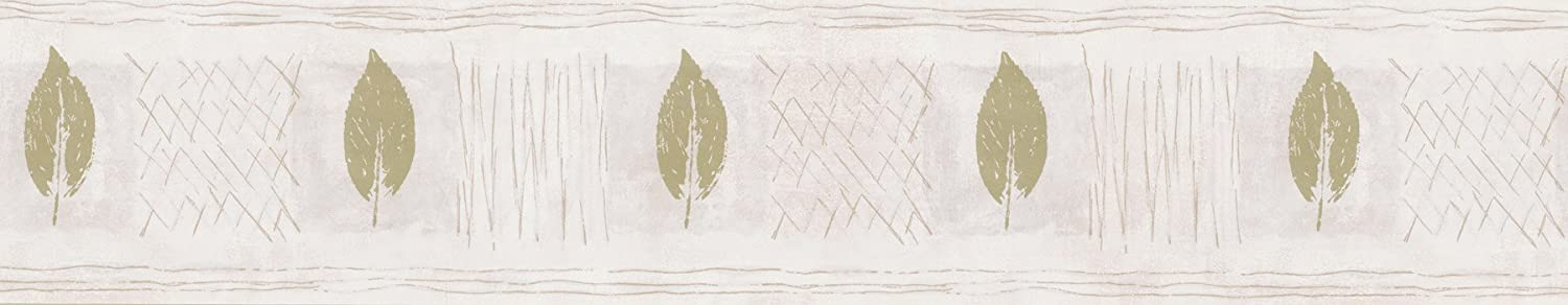 5.125-Inch by 180-Inch Brewster 229B49919 Borders and More Leaf Silhouettes Wall Border