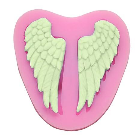CLE DE TOUS - Molde de Silicona del ala del ángel para diversos fines, tales como fondant, azúcar estirado, helado, porcelana fría ...