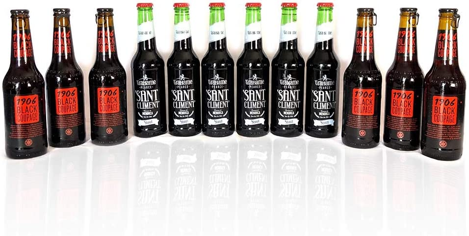PACK CERVEZA NEGRA 1906 BLACK COUPAGE & GRAHAME PEARCE SANT CLIMENT STOUT (x12): Amazon.es: Alimentación y bebidas