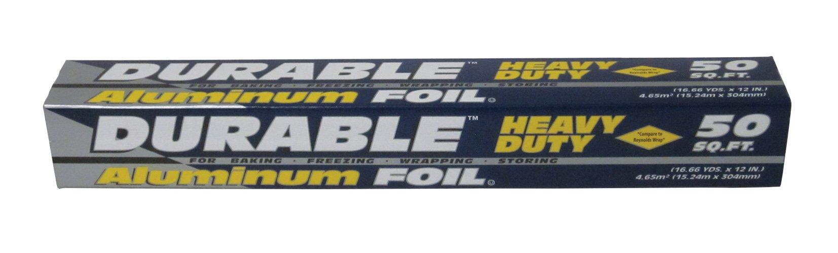 Durable Foil Aluminum Foil Roll, 12'' x 50' (Pack of 35)