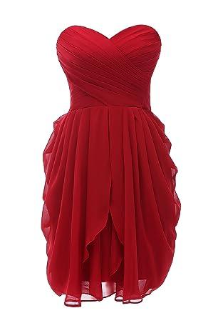 acee570b316 Kiss Dress Strapless Short Prom Dresses Chiffon Bridesmaid Dresses (L