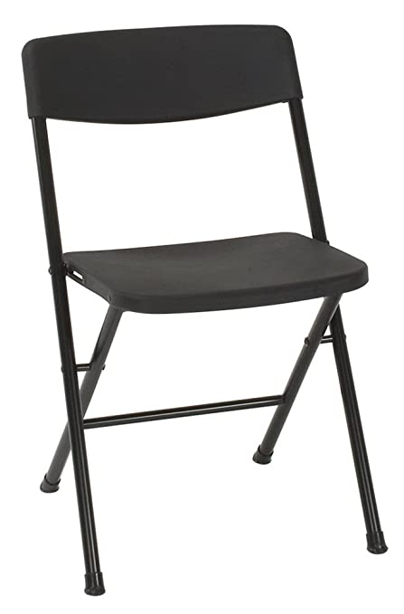 Incredible Cosco Resin Folding Chair With Molded Seat And Back 4 Pack Black Dailytribune Chair Design For Home Dailytribuneorg