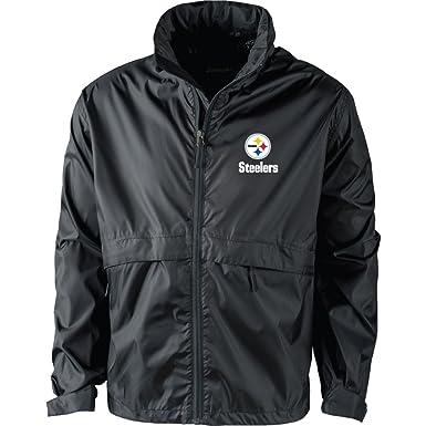 the latest efc4d 32aab NFL Pittsburgh Steelers Men's Sportsman Waterproof Windbreaker Jacket,  Black, large