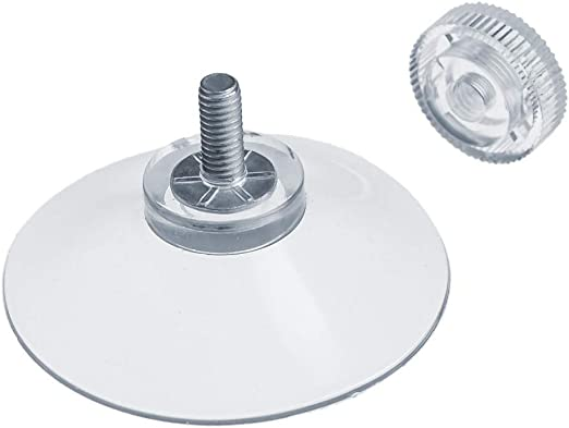Fabricado en Alemania DIYexpert/® 4 x ventosas /Ø 30 mm con Rosca M4 x 10 mm Incluye Tuercas moleteadas Transparente