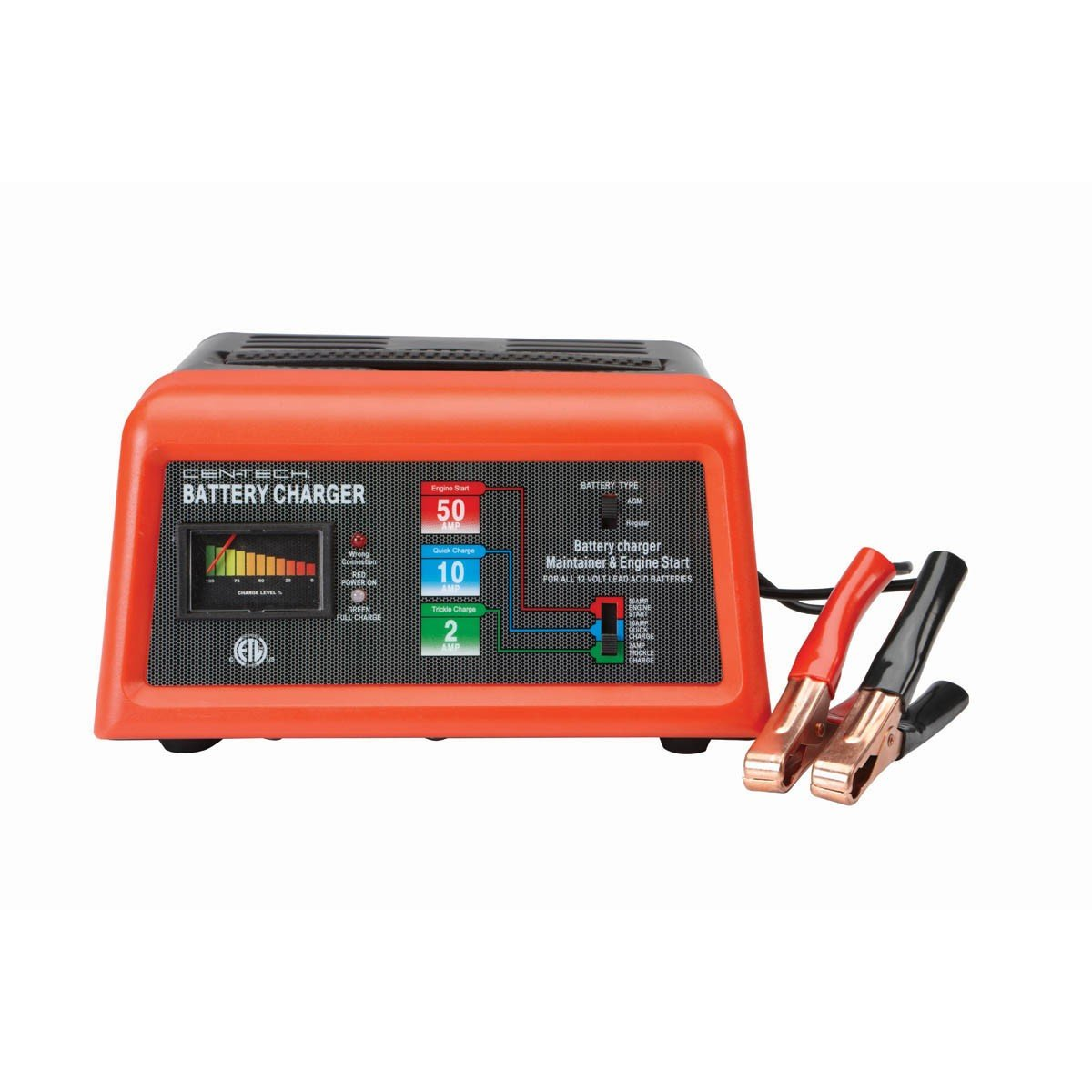 cen tech battery charger (well known brand)product focus cen tech 10 2 50 amp 12v manual charger