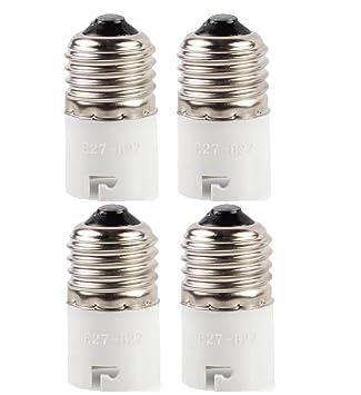 [4 unidades] adaptador convertidor de bombilla, apto para bombillas LED y lámpara fluorescente compacta, casquillo convertidor para lámpara, ...