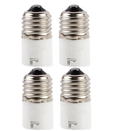 [4unidades] adaptador convertidor de bombilla, apto para bombillas LED y lá