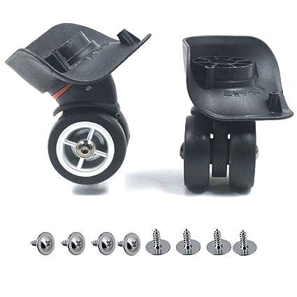 Equipaje Maleta ruedas, mergorun negro plástico izquierda & derecho ...