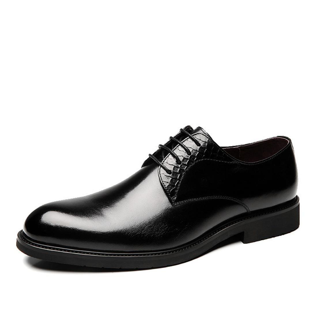 Herren Geschäft Spitz Lederschuhe Dicker Boden Werkzeugschuhe Flache Schuhe Formelle Kleidung Kuhfell EUR GRÖSSE 38-44
