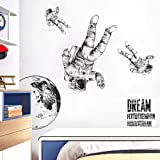 Astronaut Wall Sticker Removable Large Spaceman Wall Decal Nursery Decor Gift for Kids Boy Girl Bedroom Art Home Decoration M