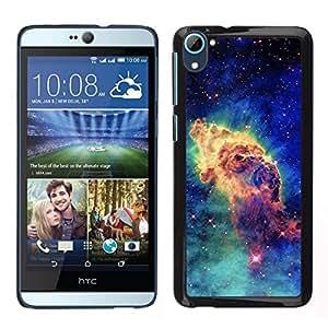 Caucho caso de Shell duro de la cubierta de accesorios de protección BY RAYDREAMMM - HTC Desire D826 - Estrellas del espacio del cosmos azul Universo