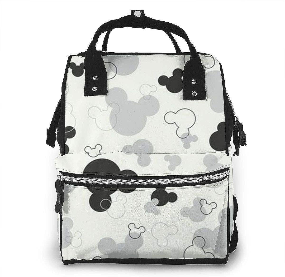multifunci/ón pap/á Mochila para mam/á mochila para pa/ñales para mam/á a la moda y duradera con correas para cochecito y bolsillos aislados cambiador de pa/ñales Mickey Mouse Love gran capacidad