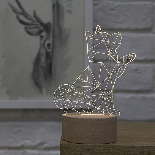 Kreative Einfache Plexiglas Holz 3d Tischlampe Nordische Dekorative Shiba Inu Form Led Smd Schreibtischlampe Fur Kinder Schlafzimmer Nachtlicht Geschenk Harz Tischlampe Acryl Tischlampe Amazon De Beleuchtung