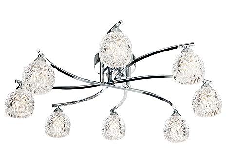Firstlight Maple - Lámpara de techo (cromo y cristal ...